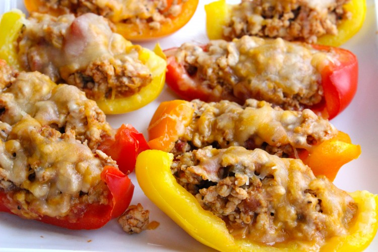 Bell Pepper Nacho Boats, by SkinnyMs
